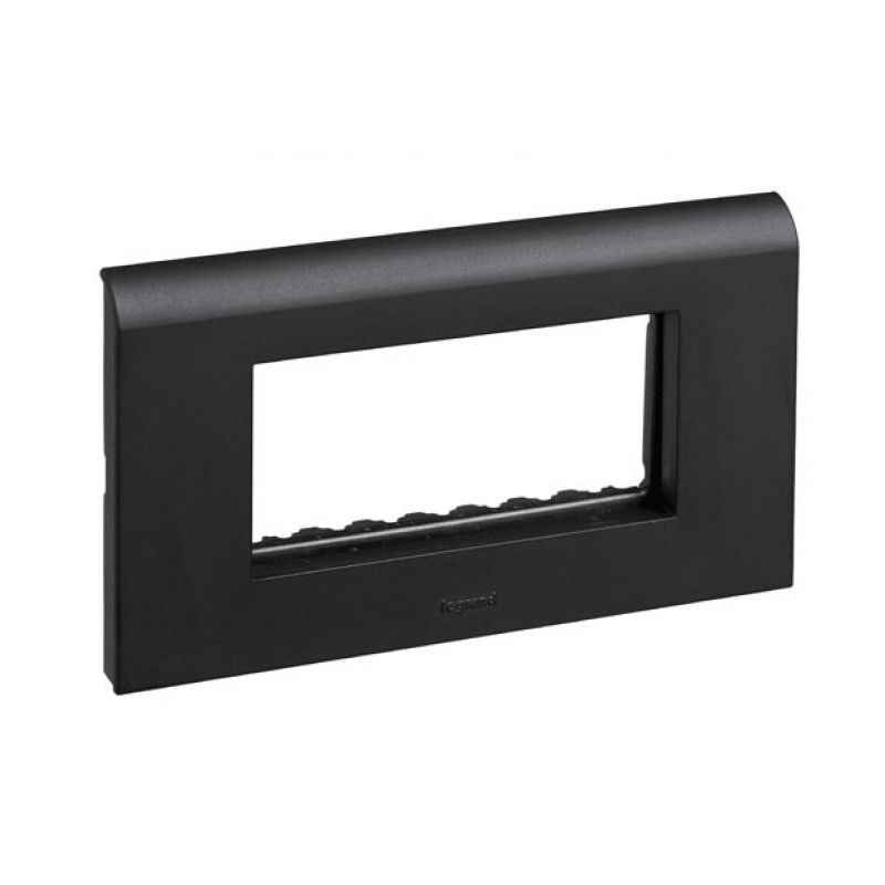 Legrand Myrius New Black Plates With Frame 3 Module Plate + Frame, 6732 86, (Pack of 2)
