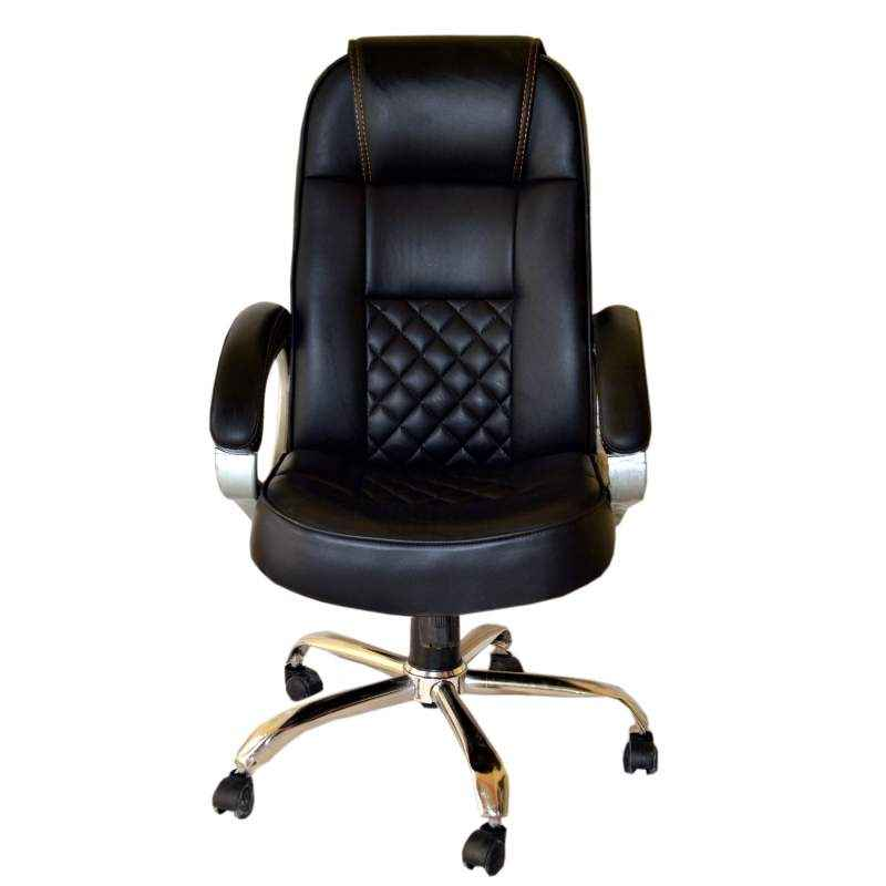 Mezonite High Back Synthetic Leatherette Black Office Chair