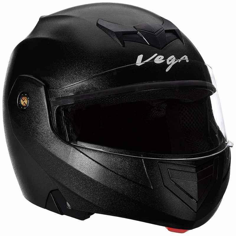 Vega Crux Black Flip up Helmet, Size (Large, 600 mm)