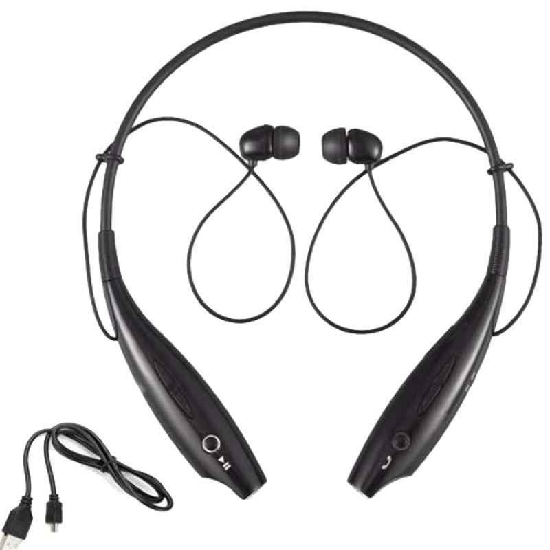 Immutable HBS-730 Black Bluetooth Neckband Earphone with Mic, IMT-545125