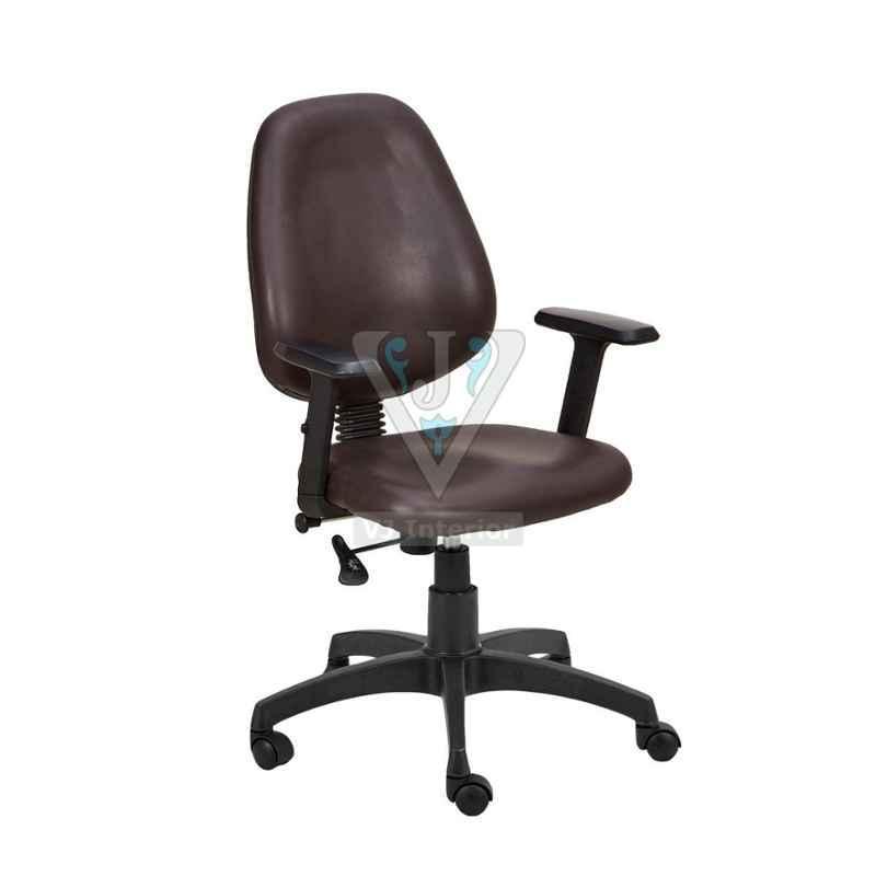 VJ Interior 18x18 inch Brown Low Back Office Staff Chair, VJ-1445