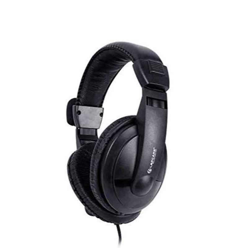 Lapcare 185g Black Headphone with mic, LKAMHP7350