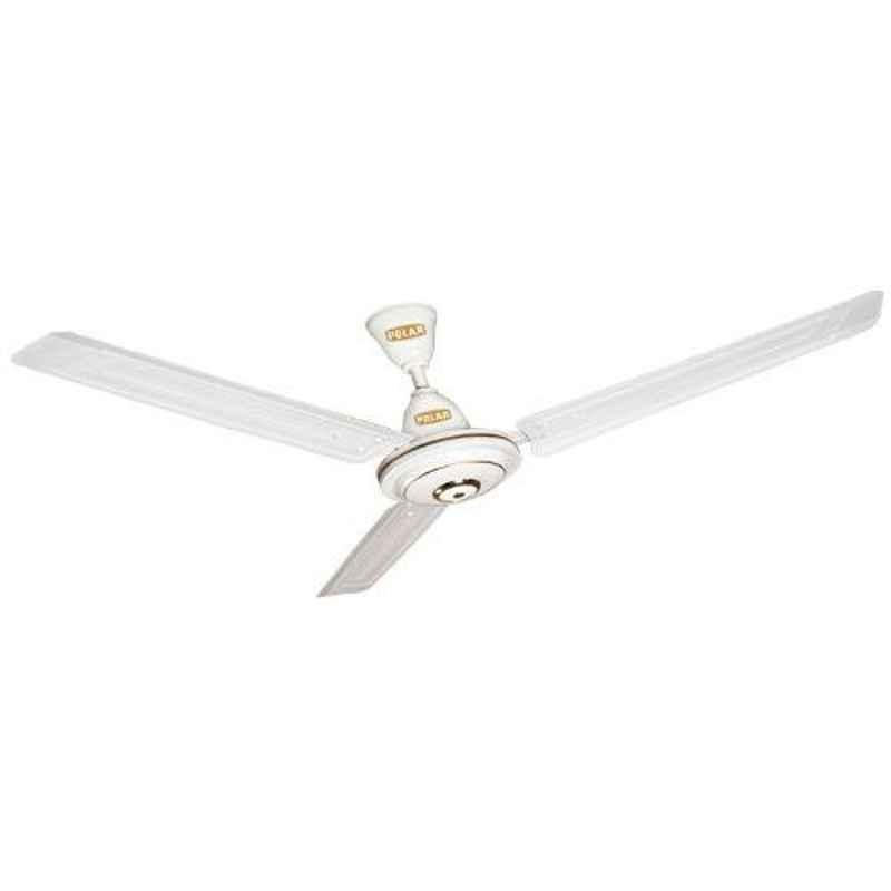 Polar Megamite 75W White Ceiling Fan, Sweep: 1200 mm