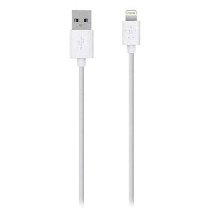 Belkin 1.2m White Lightning to USB Data Cable, USBF8J023BT04-WHT