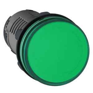 Schneider 22mm 220VAC Green Round LED Pilot Light with Screw Clamp Terminal, XA2EVM3LC