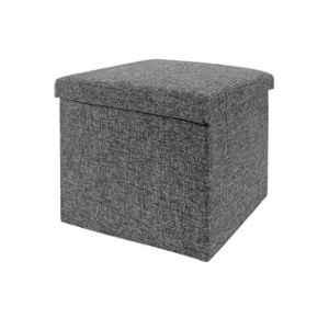 GTC 30x30x30cm Grey Portable & Foldable Storage Stool, 726