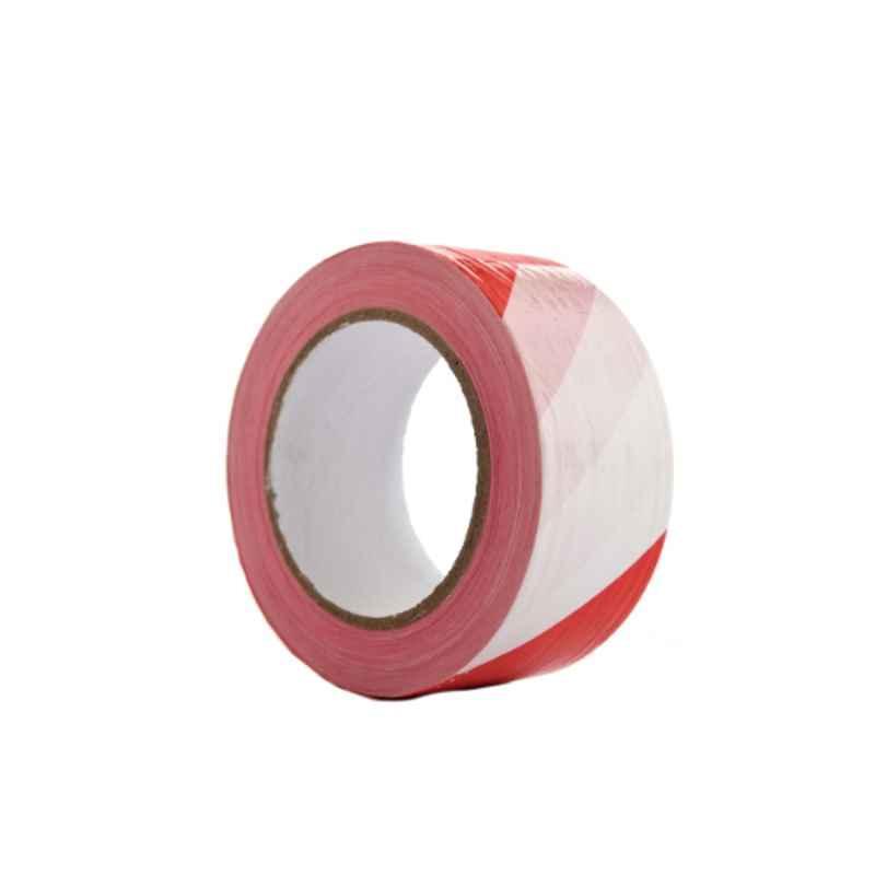 Darit ES-26 75mm Red & White Safety Warning Tape, Length: 200 m