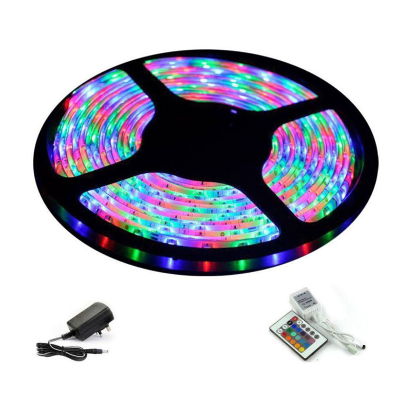 Ever Forever 5m Multicolour LED Strips Light with IR Controller, Remote & Adaptor