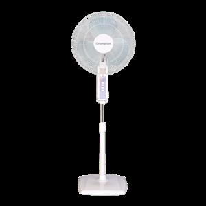 Crompton High Flo 58W White Pedestal Fan, Sweep: 400 mm