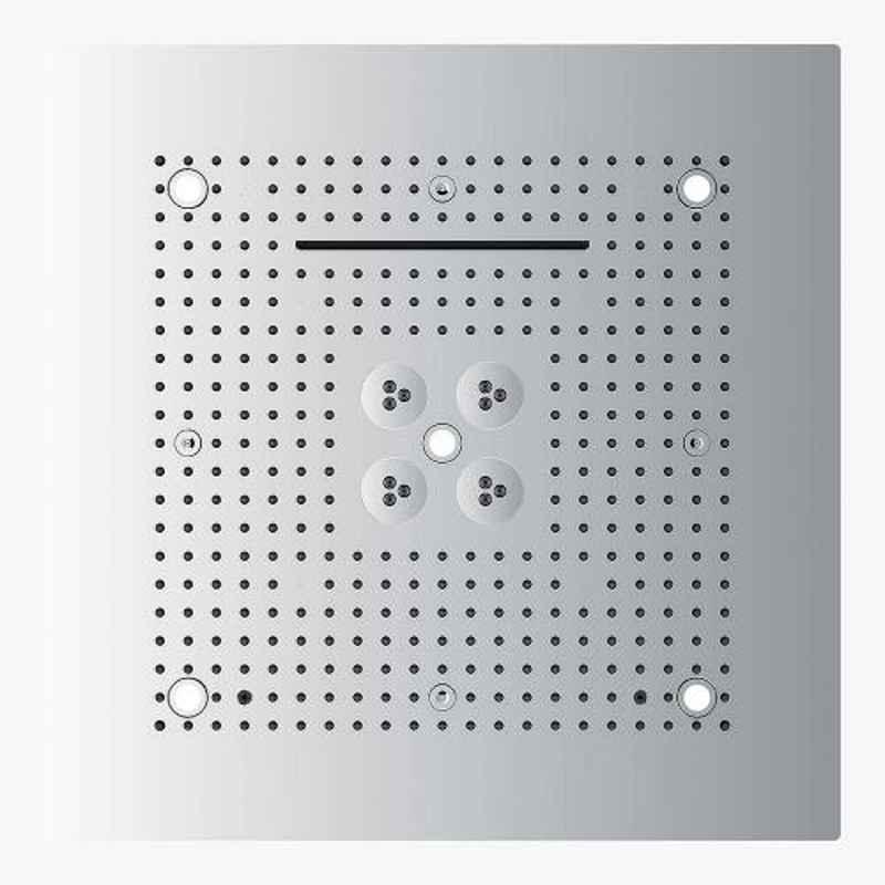 Kerovit 600x600mm Silver Chrome Four Functions Luxury Rain Shower with Led Lighting System, KA600001-5