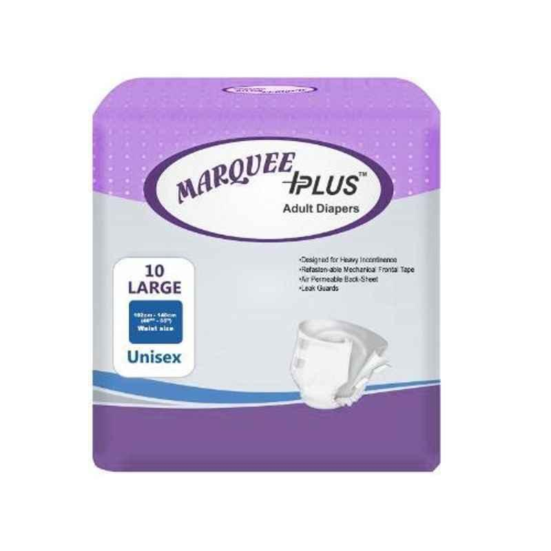 Marquee Plus 40-55 inch Large Adult Diaper, IDLL10 (Pack of 10)