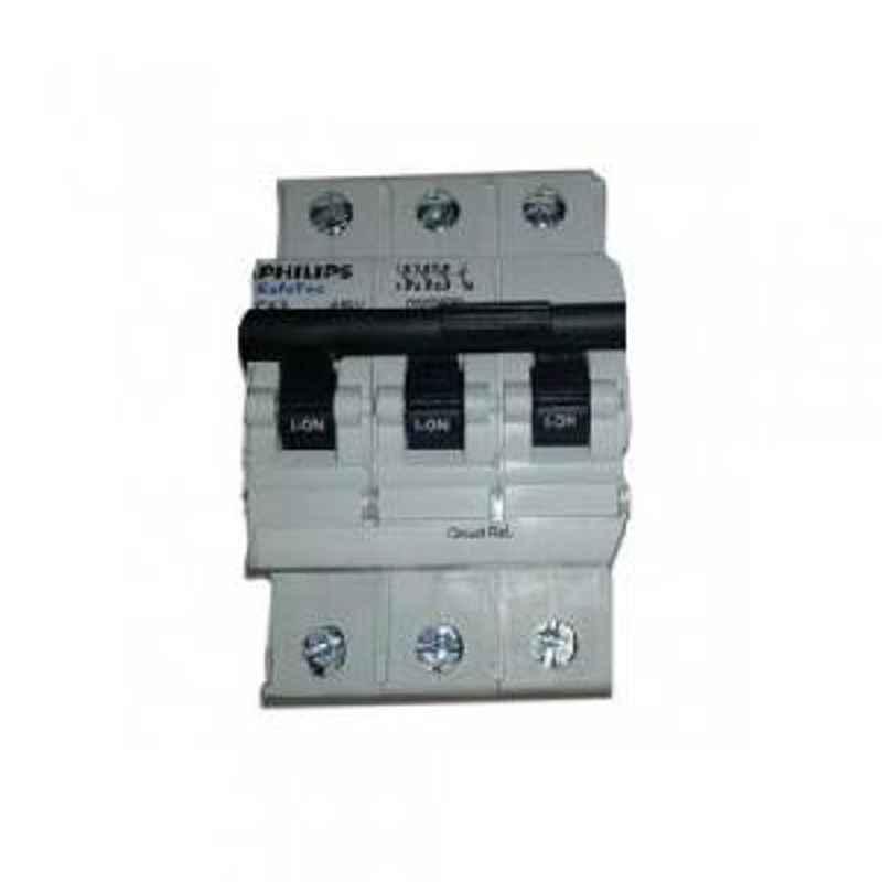 Philips 10 A TPN C Curve 10 kA Safetec MCB