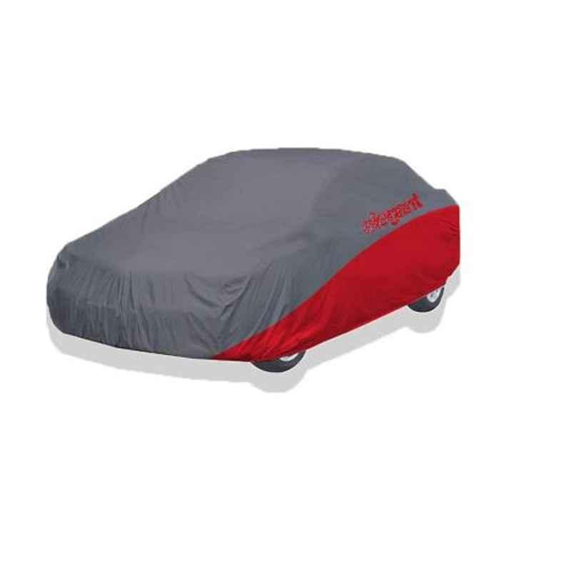 Elegant Grey & Red Water Resistant Car Body Cover for Toyota Etios