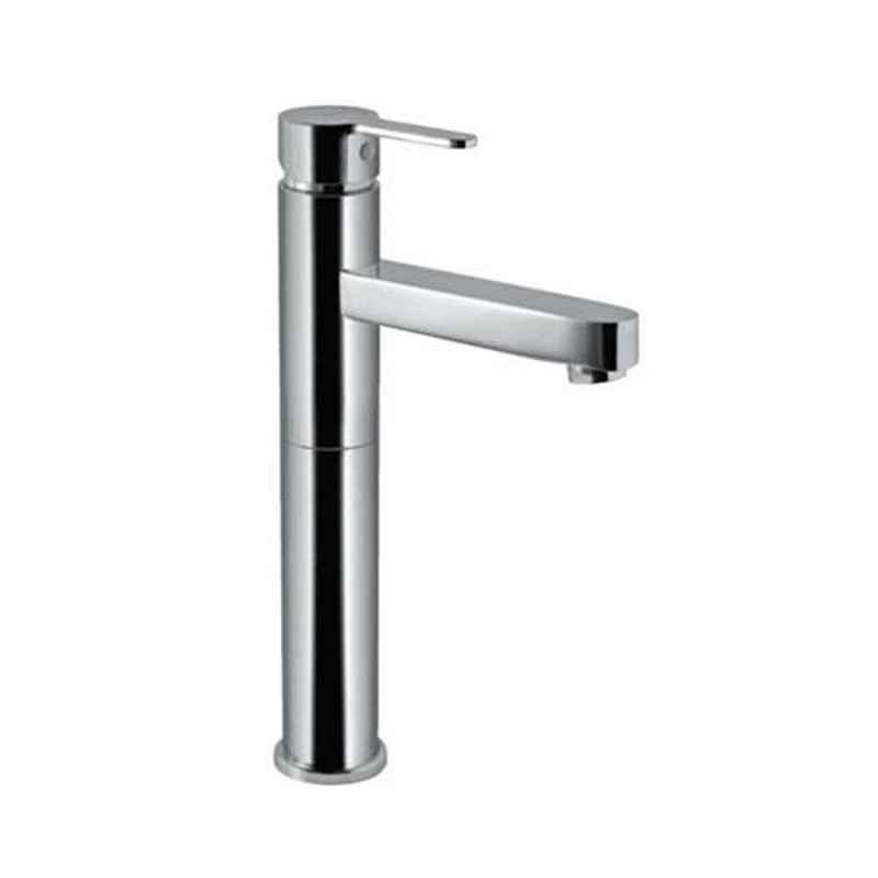 Jaquar Fusion Stainless Steel 600mm Lever Tall Boy with Fixed Spout without Popup Waste System, FUS-SSF-29005NB