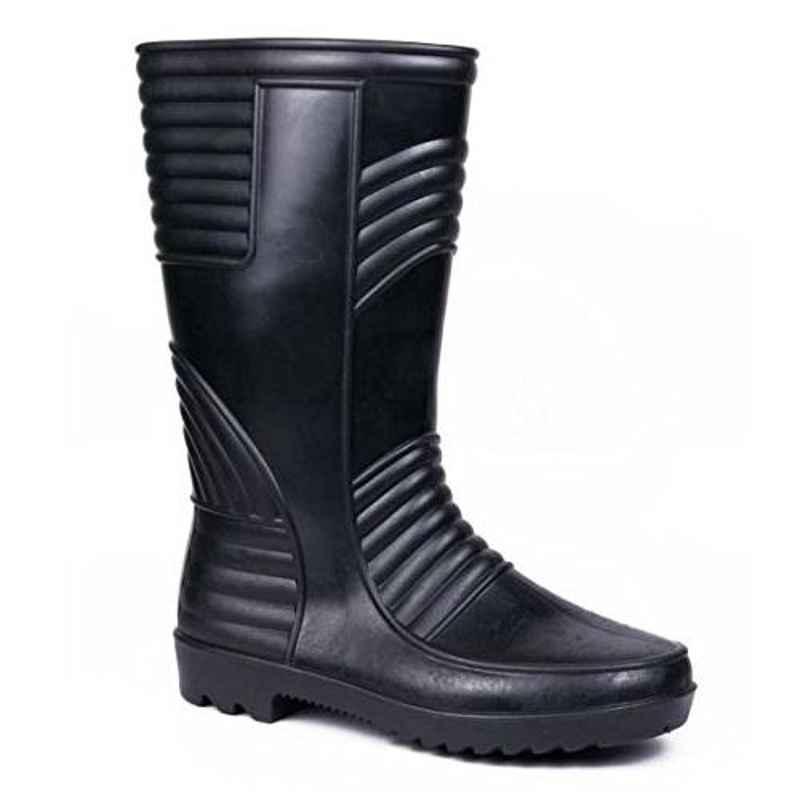 Hillson Welsafe Plain Toe Black Gumboots, Size: 7
