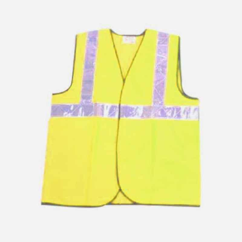 Novasafe Yellow Safety Jacket, Front Opening SL, One Inch Tape (Pack of 5)