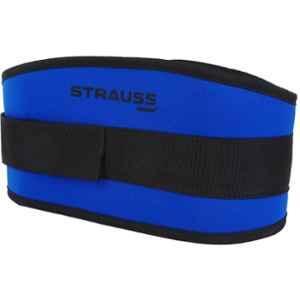 Strauss 36 Inch Blue & Black Woven Nylon Fabric Gym Belt, ST-1087