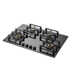 Kaff Milano-X 4 Burners Automatic Ignition Black Glass Hob, MFBX 764