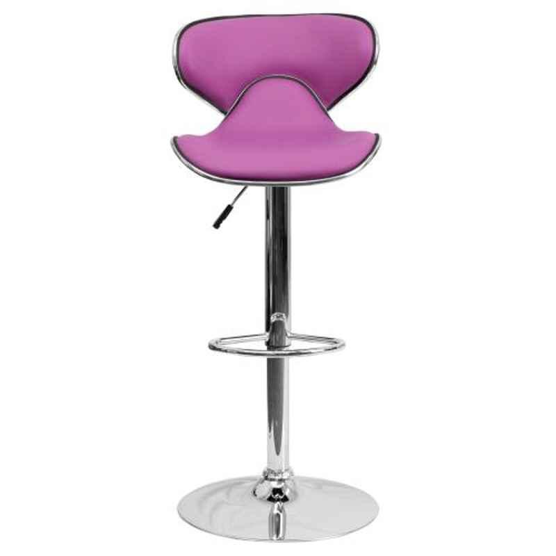 Steel Craft KBSTP06 Purple Leatherette Upholstery Seat Bar Stool