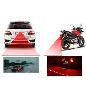 Love4ride 12V Red LED Laser Rear Fog Light for All Vehicles