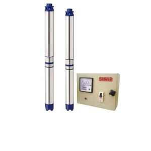 Sameer I-Flo 1HP 8 Stage Oil Filled Submersible Pump with Control Panel with 1 Year Warranty, Total Head: 150 ft