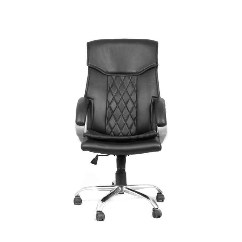 High Living Saga Black Leatherette High Back Office Chair