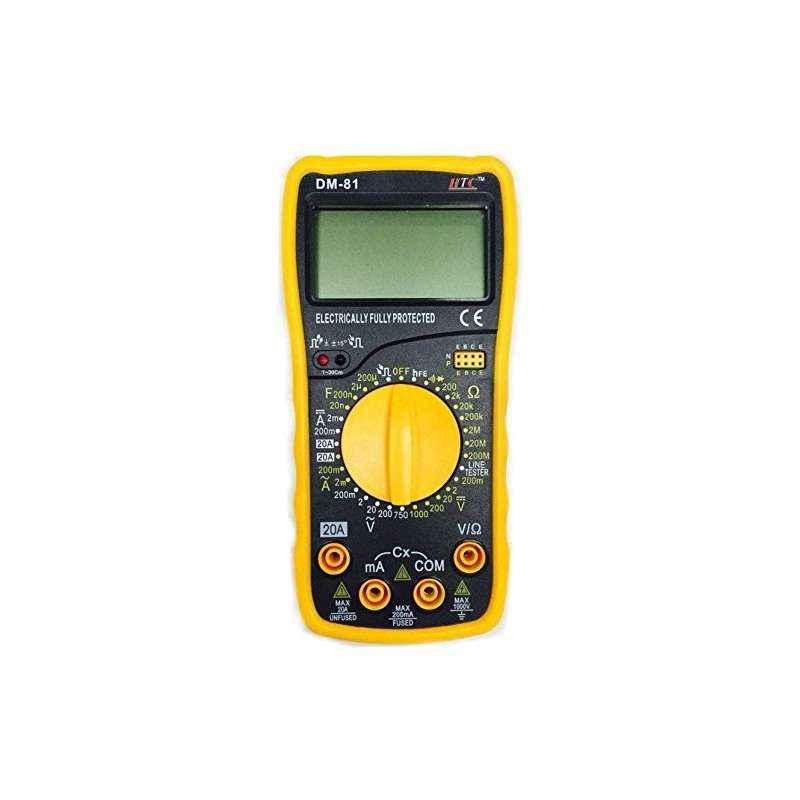 HTC DM-81 3½ Digital Multimeter Capacitance Diode Transistor and Live Tester
