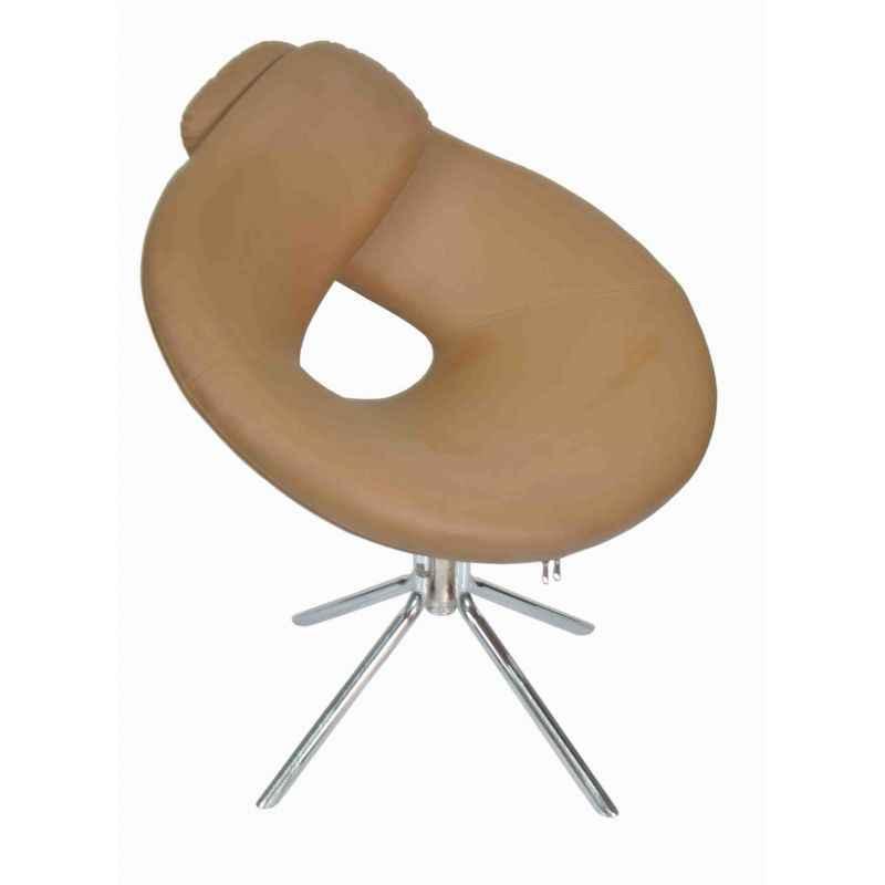 Ventura VF C-1 Light Brown Designer Chair with MS Chrome Base