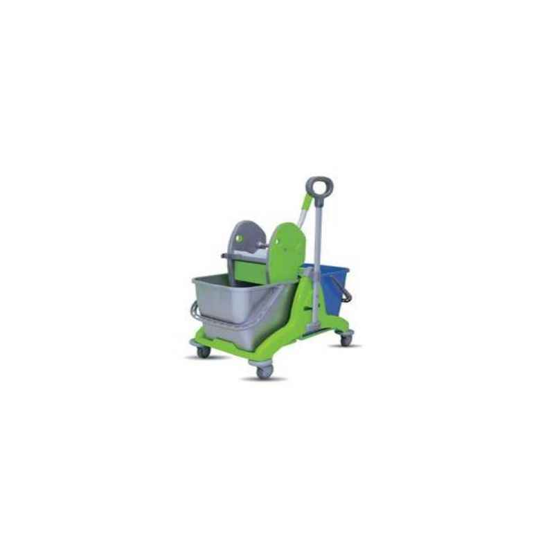 Amsse  Double Bucket 25 + 25 With Down Press Wringer and Mop Wringer Bucket