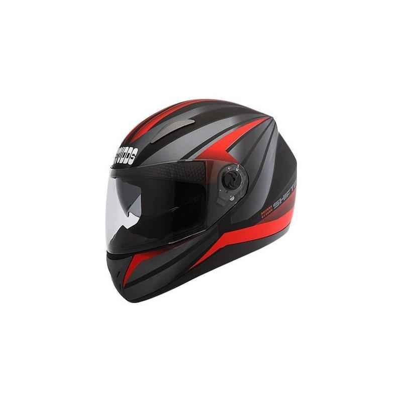 Studds Shifter D2 Motorbike Matt Black Red Full Face Helmet, Size (XL, 600 mm)