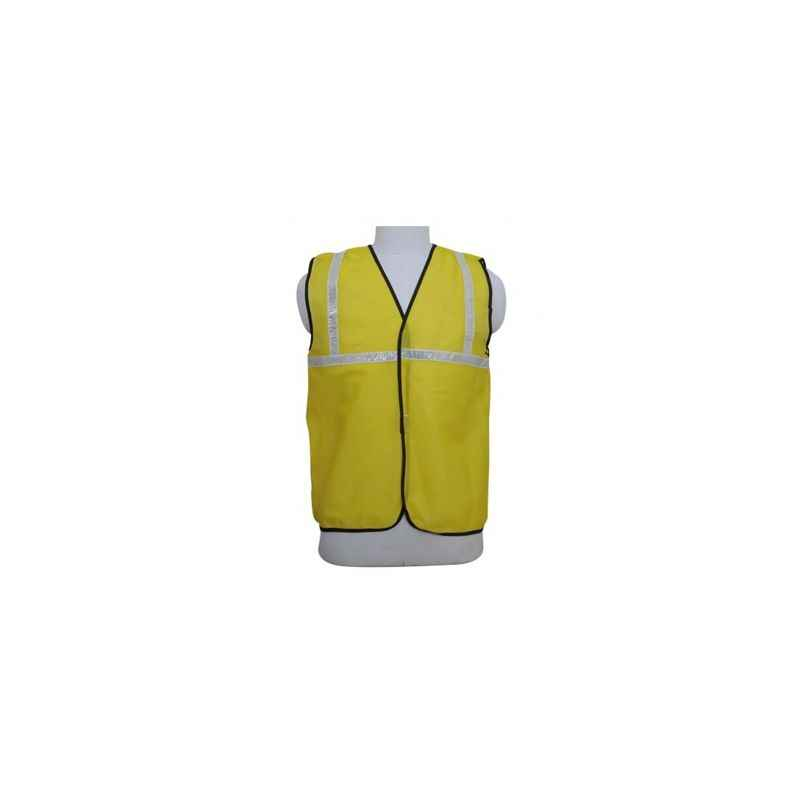 Nova Safe Yellow Front Opening SL, One Inch Tape, Cloths Safety Jacket