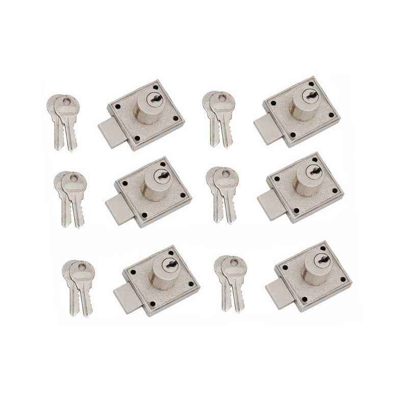 Smart Shophar 35mm Zinc Gold Silver Jack Pott Multipurpose Locks, 54210-MPLJ-GS35-P6 (Pack of 6)