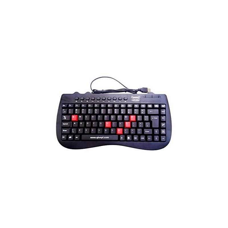 Quantum QHM7309 Black Wired Mini Keyboard