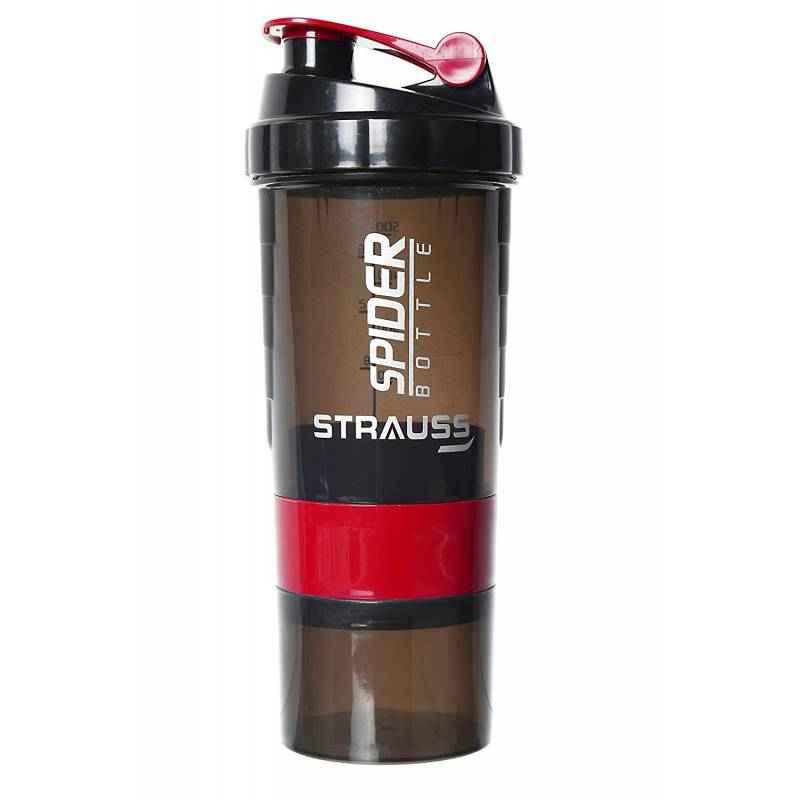 Strauss Acrylic Plastic Red Spider Shaker Bottle, Capacity: 500 ml
