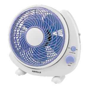 Havells 1300rpm Crescent Blue Table Fan, FHPCRSTBLU10, Sweep: 250 mm
