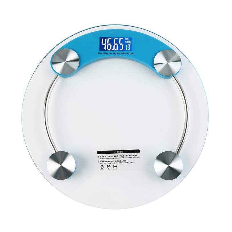 Virgo Digital Display Glass Body Weighing Scale, v-eps-2003blue