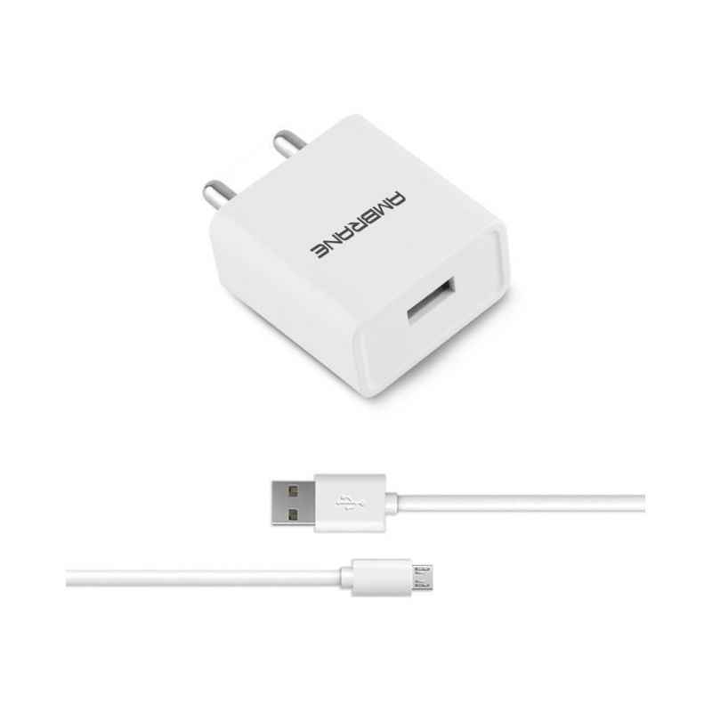 Ambrane AWC-11 2.1A Fast Charger with Charge & Sync USB Cable