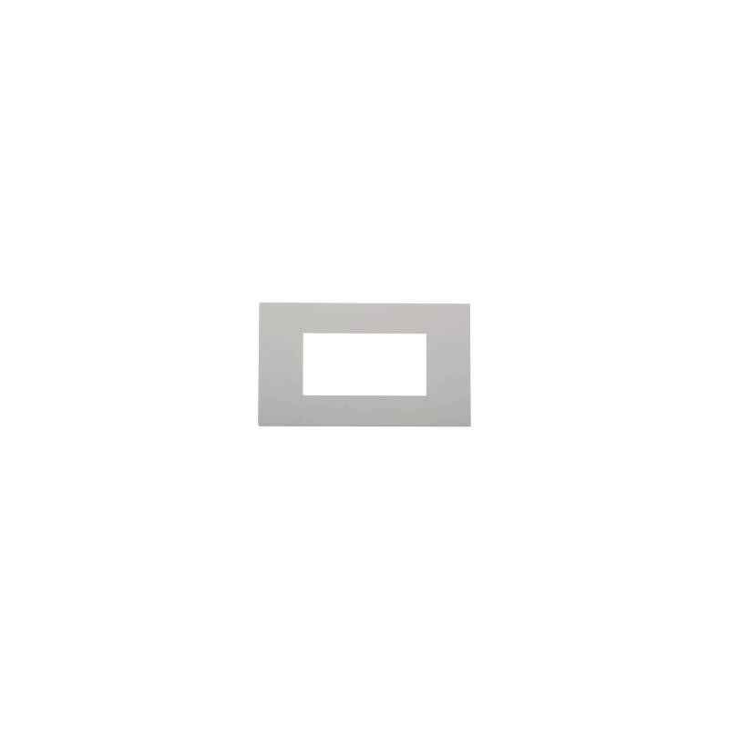 Legrand Arteor 2x8 Module White Square Cover Plate With Frame, 5757 80 (Pack of 2)