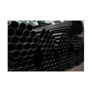 Jindal 6m Mild Steel Black Round Pipe