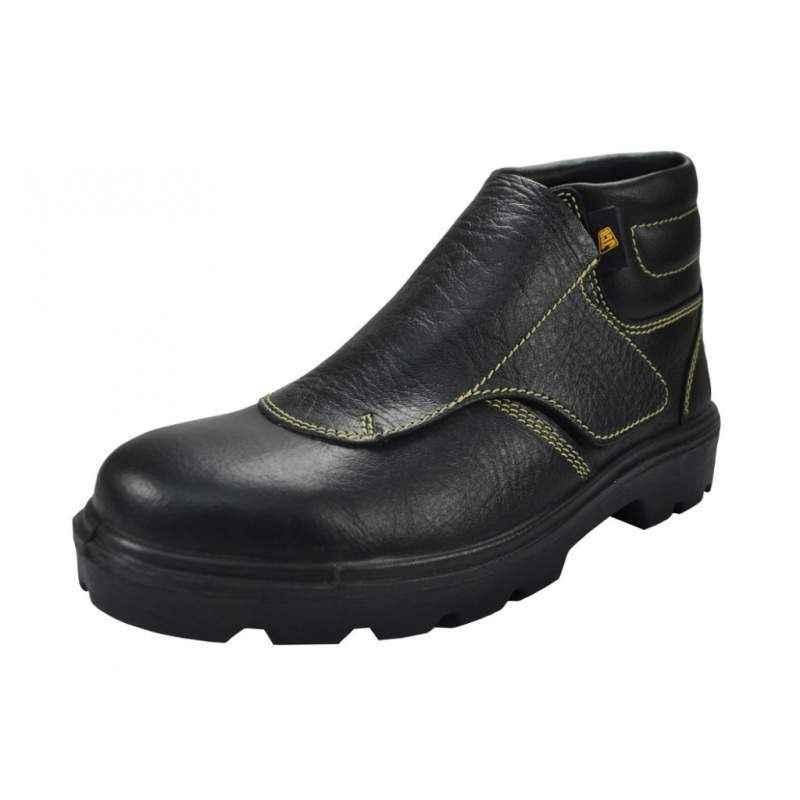 JCB Weldo Steel Toe Black Safety Shoes, Size: 6