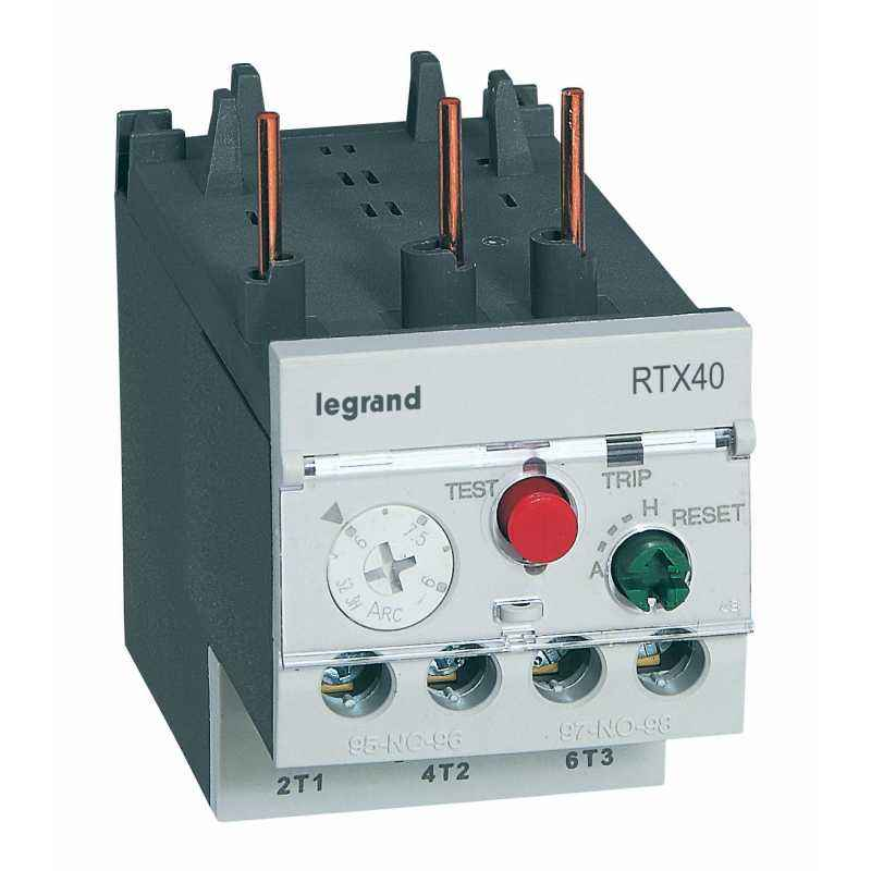 Legrand 3 Pole Contactors RTX³ 40 Integrated Auxiliary Contacts 1 NO + 1 NC, 4166 40