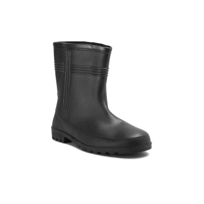 Hillson 9 Inch Hitter Plain Toe Black Gumboots, Size: 10