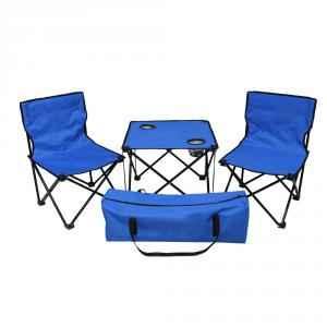 Kawachi Blue Folding Table & Chair Set, K357