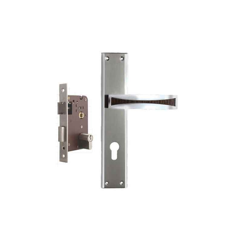 Plaza Nexa Stainless Steel Finish Handle with 200mm Pin Cylinder Mortice Lock & 3 Keys