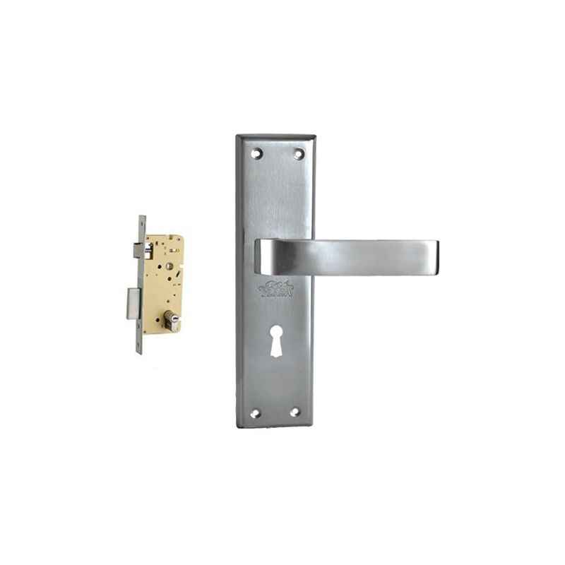 Plaza Vitara Stainless Steel Finish Handle with 250mm Pin Cylinder Mortice Lock & 3 Keys