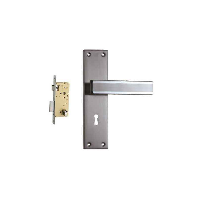 Plaza Volt Stainless Steel Finish Handle with 250mm Pin Cylinder Mortice Lock & 3 Keys