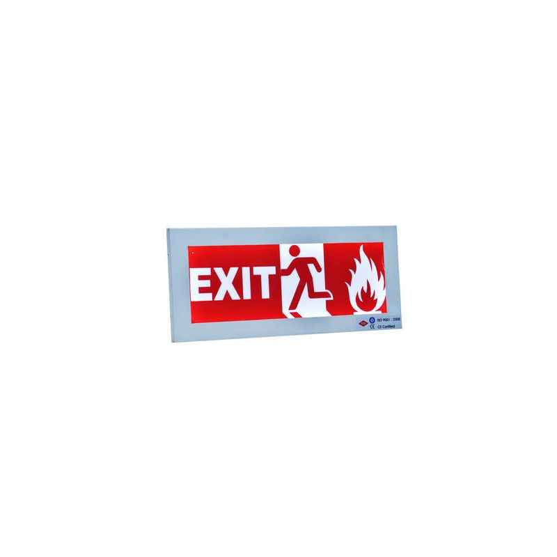 Rax Vinyl Red Exit Sign with Battery Backup, RT-EXIT-VI/LO1