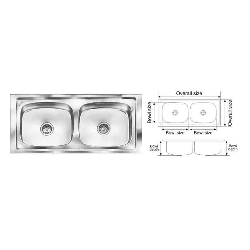 Nirali Graceful Glory Glossy Finish Kitchen Sink, Bowl Size: 510x410x200 mm