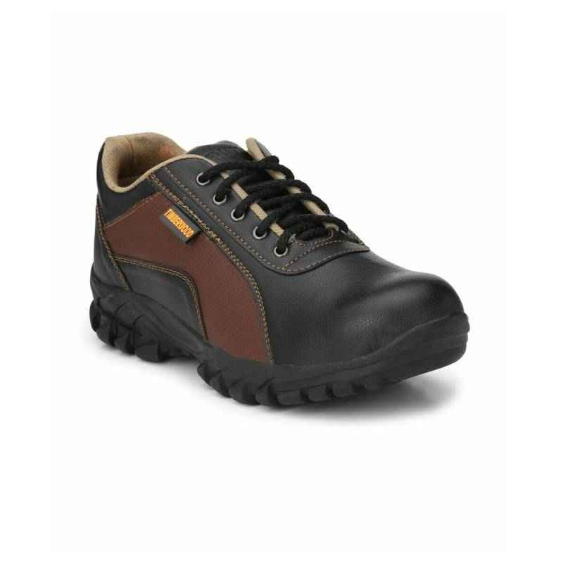 Timberwood TWNEWA Synthetic Leather Steel Toe Black Safety Shoes, Size: 7