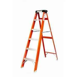 Youngman 6 Step 150kg Capacity Fiberglass Orange Shockproof Ladder